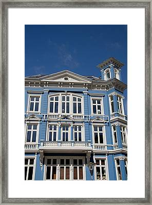 Norway, Bergen Historic Downtown Homes Framed Print