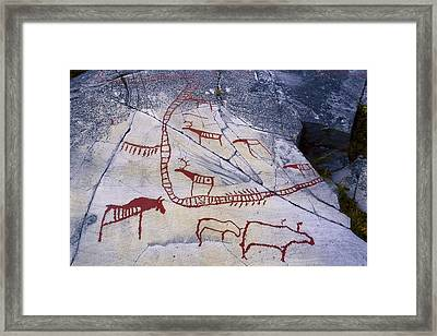 Norway. Finnmark. Alta Petroglyphs Framed Print