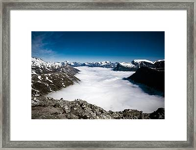 Norway In The Clouds Framed Print
