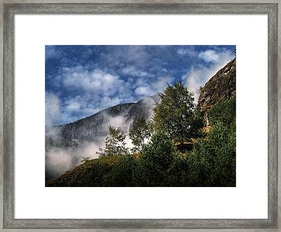 Framed Print featuring the photograph Norway Mountainside by Jim Hill
