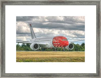 Norwegian 787 Framed Print