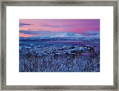 Norwegian Arctic Twilight Framed Print by David Broome