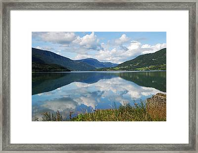 Norwegian Fjord Reflections Framed Print