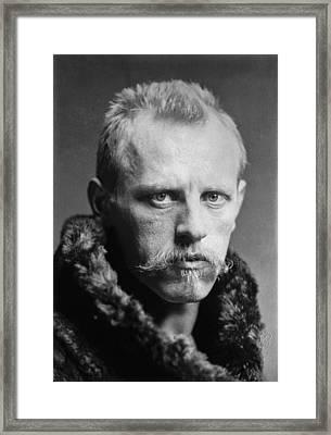 Norwegian Fridtjof Nansen Framed Print by Underwood Archives