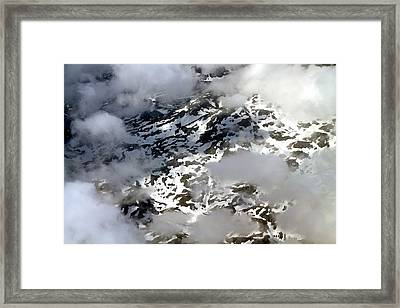 Norwegian Mountains From On High Framed Print