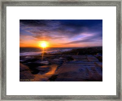 Norwegian Sunset Framed Print by Bruce Nutting