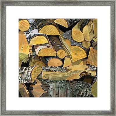 Norwegian Wood 1 Framed Print by Jane Dunn Borresen