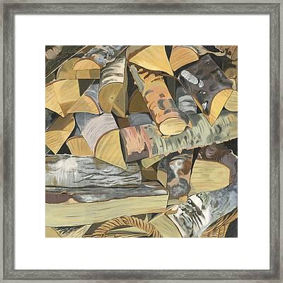 Norwegian Wood 2. Framed Print by Jane Dunn Borresen
