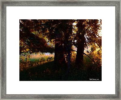 Norwegian Wood Framed Print