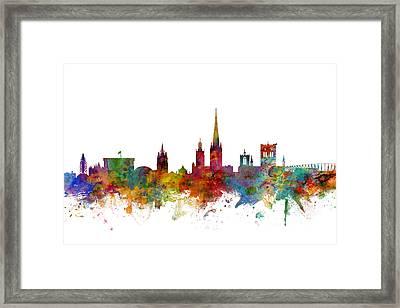 Norwich England Skyline Framed Print