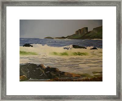 Norwick Beach Shetland Isles Framed Print