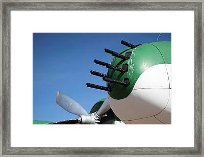Nose-mounted Aeroplane Guns Framed Print