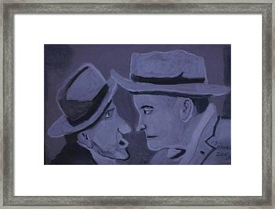 Nose To Nose Framed Print by Rose Clark