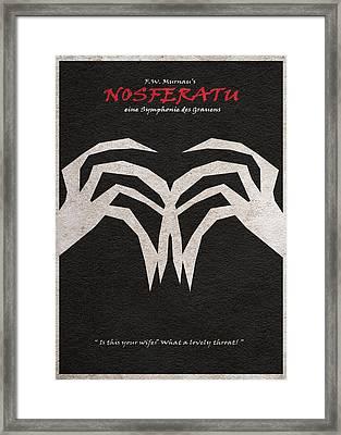 Nosferatu Framed Print by Ayse Deniz