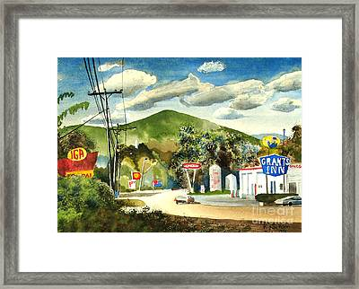 Nostalgia Arcadia Valley 1985  Framed Print