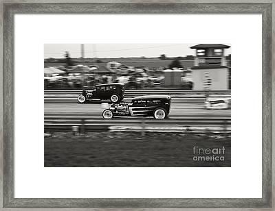 Nostalgia Drag Racing Framed Print by Dennis Hedberg