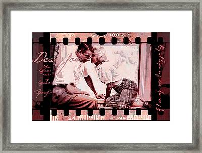 Nostalgia Joe Dimaggio And Marilyn Monroe Your Happiness Means My Happiness Framed Print