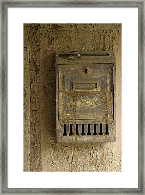 Nostalgia - Old And Rusty Mailbox Framed Print by Matthias Hauser