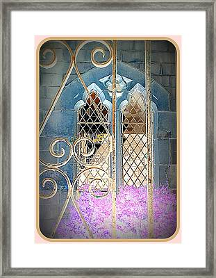 Nostalgic Church Window Framed Print by The Creative Minds Art and Photography