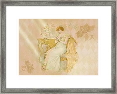 Framed Print featuring the digital art Nostalgic Contemplation by Sandra Foster