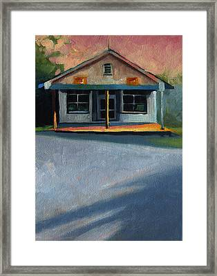 Nostalgic Icon Hucksteps Garage And Store Framed Print