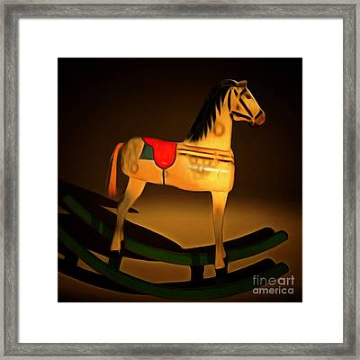 Nostalgic Vintage Seesaw Horse 20150226 Square Framed Print by Wingsdomain Art and Photography
