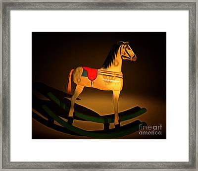Nostalgic Vintage Seesaw Horse 20150226 Framed Print by Wingsdomain Art and Photography