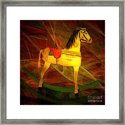 Nostalgic Vintage Seesaw Horse 20150226v2 Square Framed Print by Wingsdomain Art and Photography