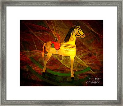 Nostalgic Vintage Seesaw Horse 20150226v2 Framed Print by Wingsdomain Art and Photography