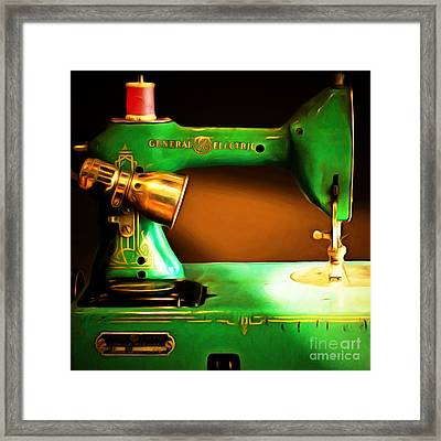 Nostalgic Vintage Sewing Machine 20150225 Square Framed Print by Wingsdomain Art and Photography