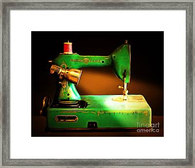 Nostalgic Vintage Sewing Machine 20150225 Framed Print by Wingsdomain Art and Photography
