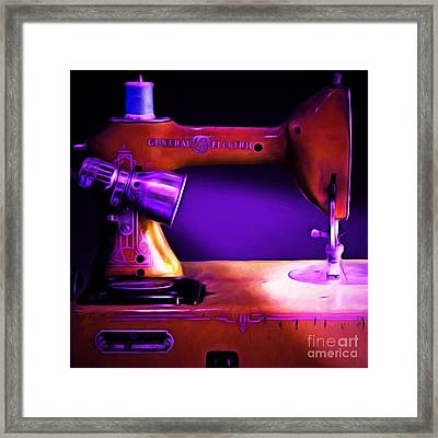 Nostalgic Vintage Sewing Machine 20150225m118 Square Framed Print by Wingsdomain Art and Photography