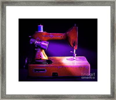 Nostalgic Vintage Sewing Machine 20150225m118 Framed Print by Wingsdomain Art and Photography