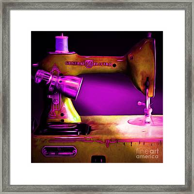 Nostalgic Vintage Sewing Machine 20150225m90 Square Framed Print by Wingsdomain Art and Photography
