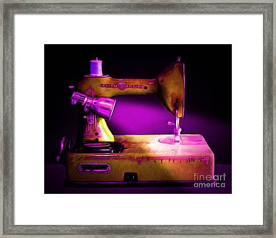 Nostalgic Vintage Sewing Machine 20150225m90 Framed Print by Wingsdomain Art and Photography
