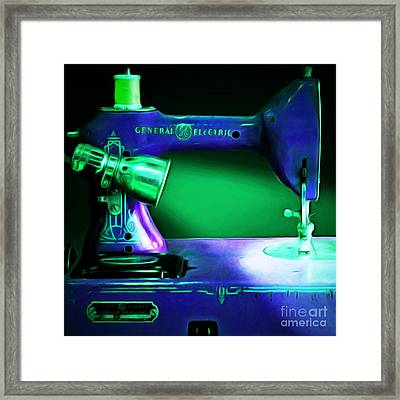 Nostalgic Vintage Sewing Machine 20150225p118 Square Framed Print by Wingsdomain Art and Photography