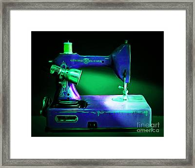 Nostalgic Vintage Sewing Machine 20150225p118 Framed Print by Wingsdomain Art and Photography