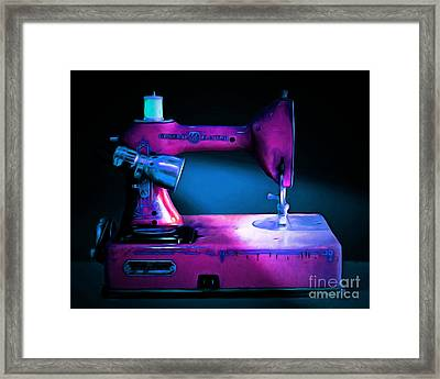 Nostalgic Vintage Sewing Machine 20150225p180 Framed Print by Wingsdomain Art and Photography