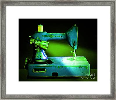 Nostalgic Vintage Sewing Machine 20150225p68 Framed Print by Wingsdomain Art and Photography