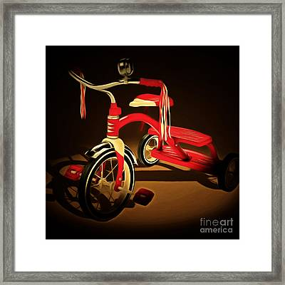 Nostalgic Vintage Tricycle 20150225 Square Framed Print by Wingsdomain Art and Photography