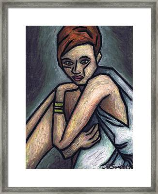 Nostalgic Woman Framed Print by Kamil Swiatek