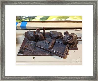 Not A Good Idea Edition Of 5 Pcs. Framed Print