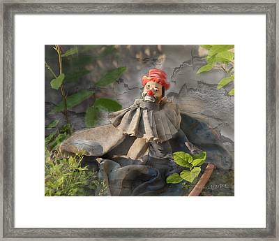 Not A Happy Clown Framed Print by Terri Harper