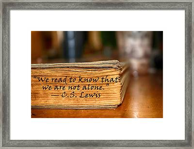 Not Alone Framed Print by Angelina Vick