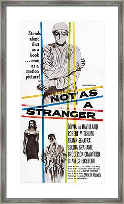 Not As A Stranger, Us Poster, From Top Framed Print