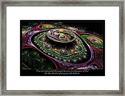 Not Ashamed Framed Print