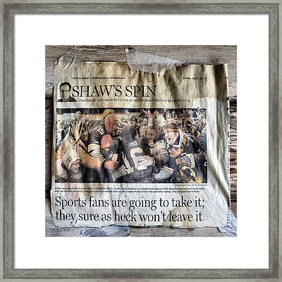 Not Easy Being A Cleveland Browns Fan Framed Print by Patricia Januszkiewicz