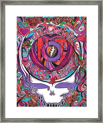 Not Fade Away Framed Print