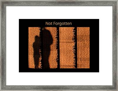 Not Forgotten Framed Print by Carolyn Marshall