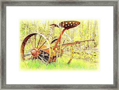 This Thing Is Not Going To Work Anymore But It Refuses To Die  Framed Print by Hilde Widerberg